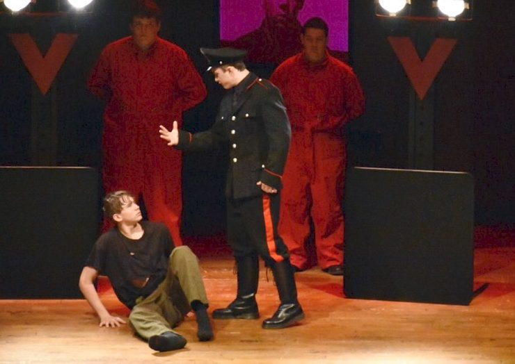 COMMANDING+ATTENTION.+As+a+cast+member+1984%2C+junior+Cameron+Collier+acts+onstage+during+the+AACT+drama+festival.+