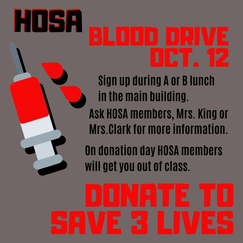 HOSA+hosts+blood+drive