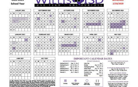 2020-2021 school calendar was adopted by the school board on 2/10/20.