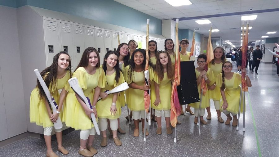 Members of the Winter Guard competed in competition Saturday, February 8, 2020. They group placed 4th in their division.