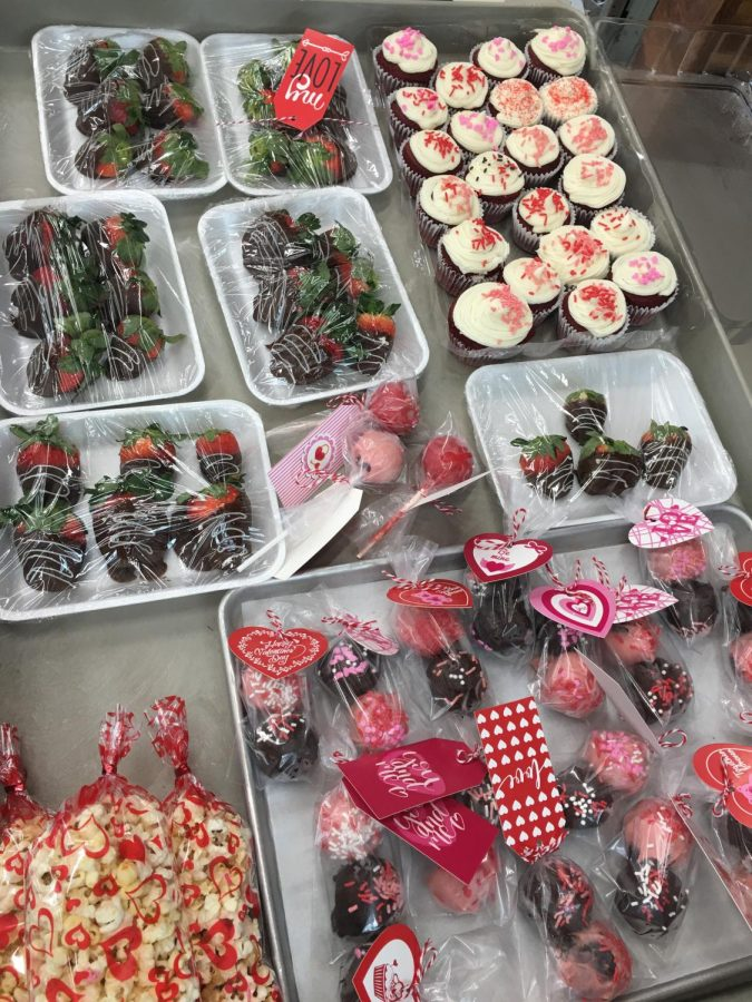 LOVE IS IN THE AIR. Member of the Culinary Arts program are selling treats for Valentin'e Day. They will be delivered on Valentine's Day.