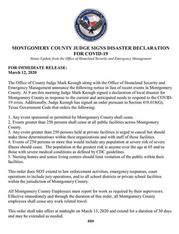Release from Montgomery County Office of Homeland Security and Emergency Management.