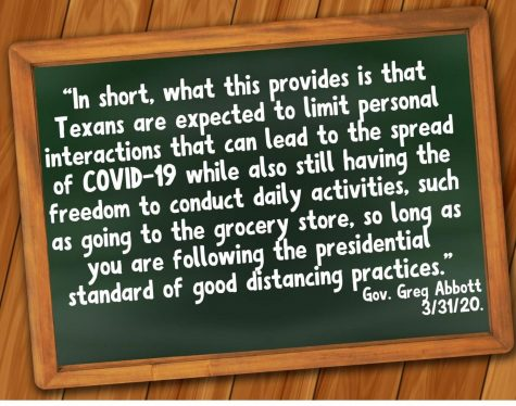 In a press conference today, Texas Gov. Greg Abbott closed schools until May 1st. The earliest schools will resume is May 4th.