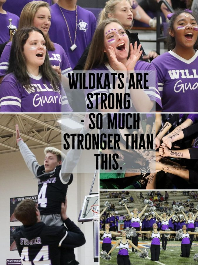 WILDKATS+NEVER+DIE.+With+schools+closing+for+the+year%2C+many+students+may+feel+discouraged+and+angry.+Staff+member+Charnell+Haywood+reminds+WIldkats+of+the+good+times.+