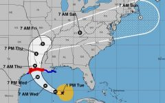 LAURA'S PATH. A map from the National Hurricane Center shows the projected path of Hurricane Laura/