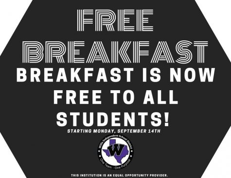 FREE BREAKFAST FOR ALL. Starting this week, all high school students can grab a free breakfast every day.