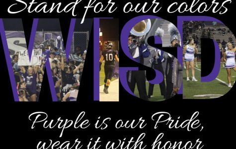 STAND FOR OUR COLORS. The words of the school song are more than words. The are inspirational and meaningful to all Wildkats.