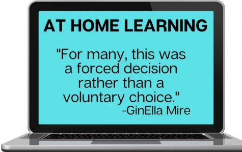 AT HOME LEARNING. For remote learners, YouTube, family and classmates have been the best help during their time away from school.
