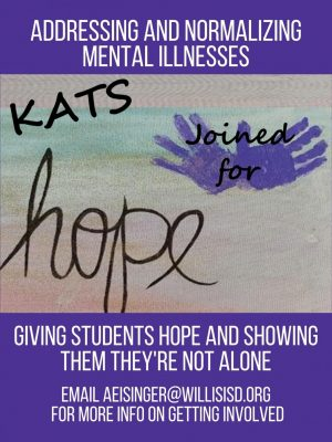 KATS JOINED FOR HOPE. A new club on campus hopes to saves lives and bring hope to students who are going through tough times.