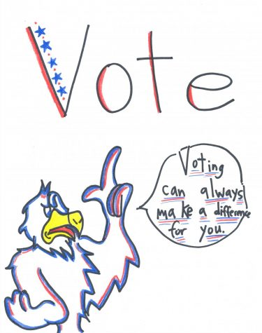 TODAY IS THE DAY TO VOTE. Voting can always make a difference for you.