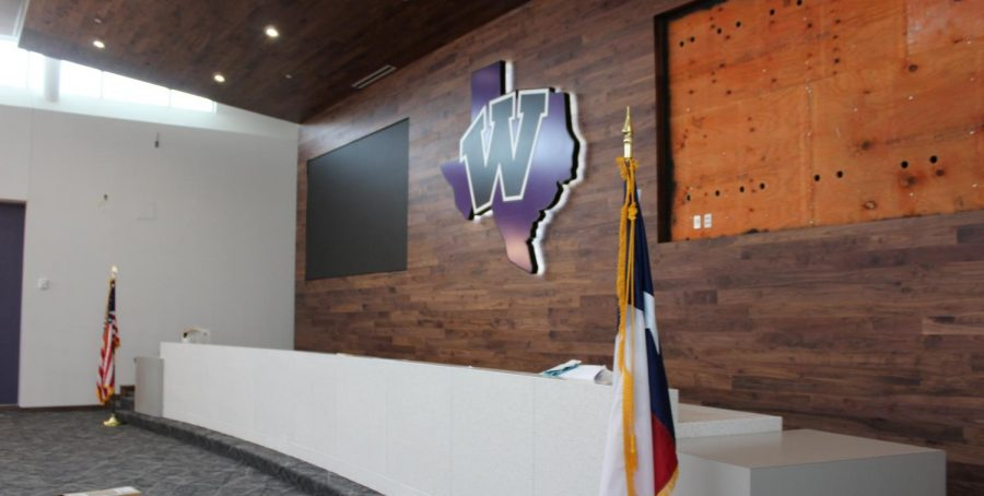 BOARD ROOM. The finishing touches still need to be added to the new WISD Board Room.