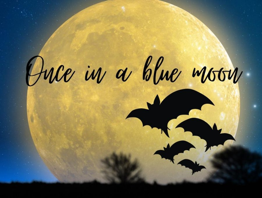 ONCE+IN+A+BLUE+MOON.+This+Halloween%2C+the+world+will+experience+a+blue+moon%2C+a+rare+occurrence+that+has+not+happened+since+the+1940s.+