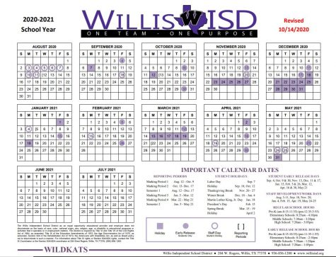 EXTRA, EXTRA, READ ALL ABOUT IT. There will be six more early dismissal days this school year after the school board adopted a new calendar on October 14th.