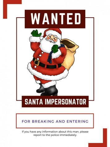 WANTED. Santa Claus impersonator is on the loose, please help find the imposter before it is too late.