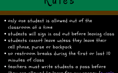 HALLWAY HASSLES. New hallway rules were implemented for the last nine weeks of school, creating some new struggles for teachers and students.