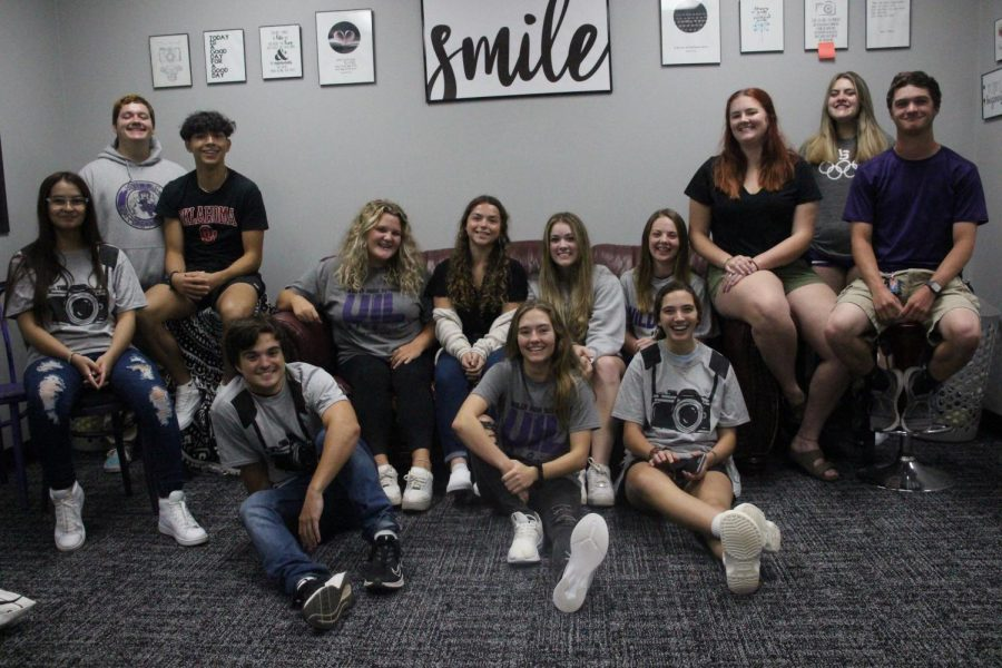 THE VOICE OF THE WILDKATS.  The 2020-2021 staff of the newspaper. The staff is lead by co-editors, Summer Rains and Katherine Lee.  Other members the editorial board are Jason Clark, sports editor, Hannah Hartman, features editor, Stephanie Keele, video editor, Heather Jackson, photo manager, Janice Talley, around campus editor and Brenan Mansker, podcast editor. Additional members are Lilliana Flores, Timothy Gunn, Julian Pelayo, Emma Lowe and GinElla Mire.