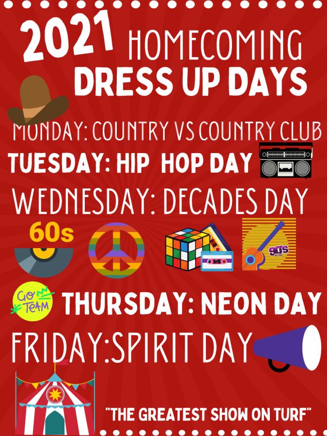 DRESS UP DAYS. The week of homecoming is full of fun and exciting dress up days to get ready for the football game.