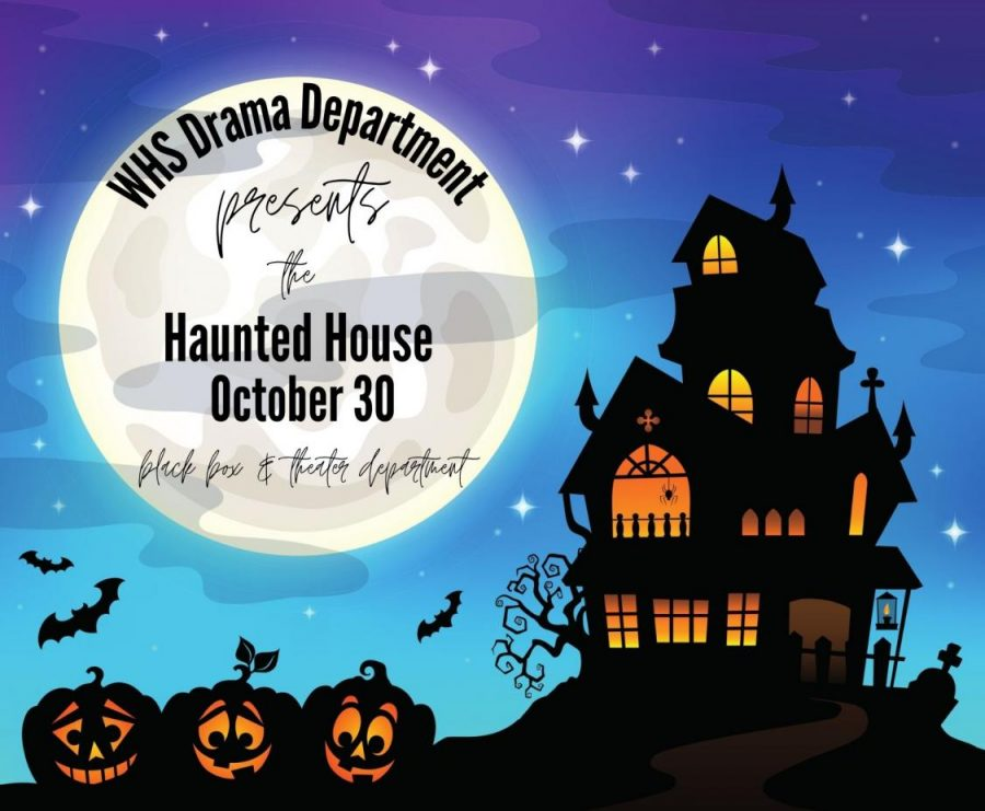 SPOOKY+SEASON.+The+drama+department+puts+on++a+haunted+house+for+the+Halloween+season.