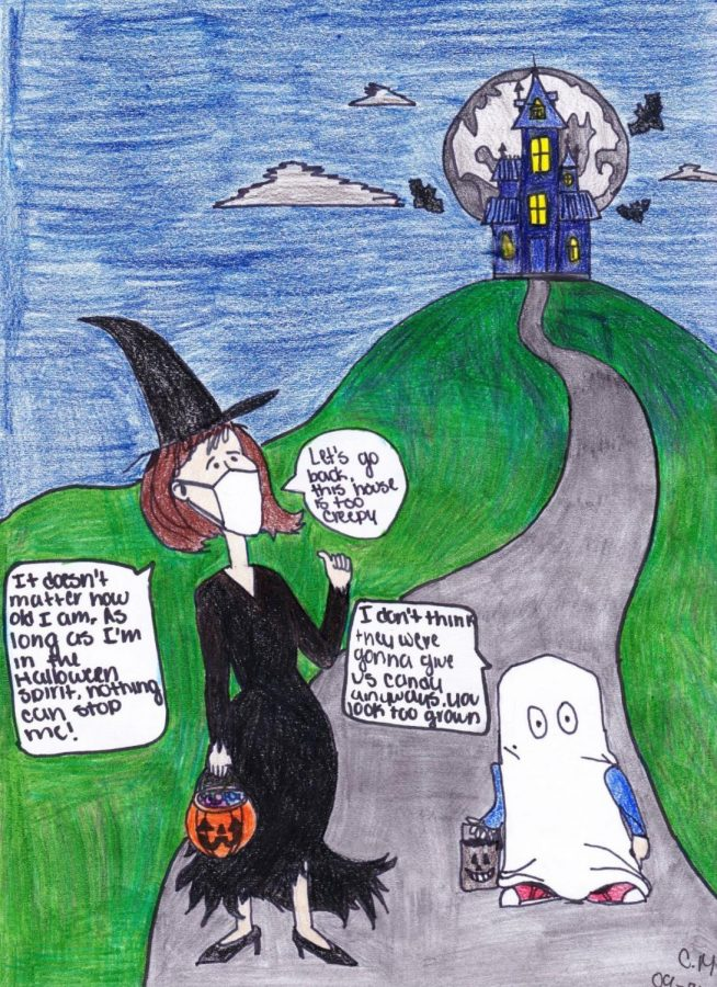 NEVER+TOO+OLD+TO+TRICK+OR+TREAT.++Spooky+season+is+here%2C+and+students+are+making+plans+for+Halloween+night.+Should+there+be+an+age+limit+on+trick+or+treating%3F