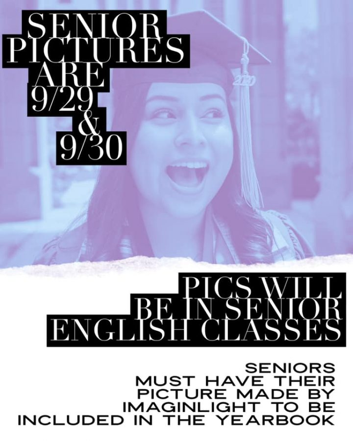 SMILE SENIORS. Pictures are set Sept. 29 and 30.
