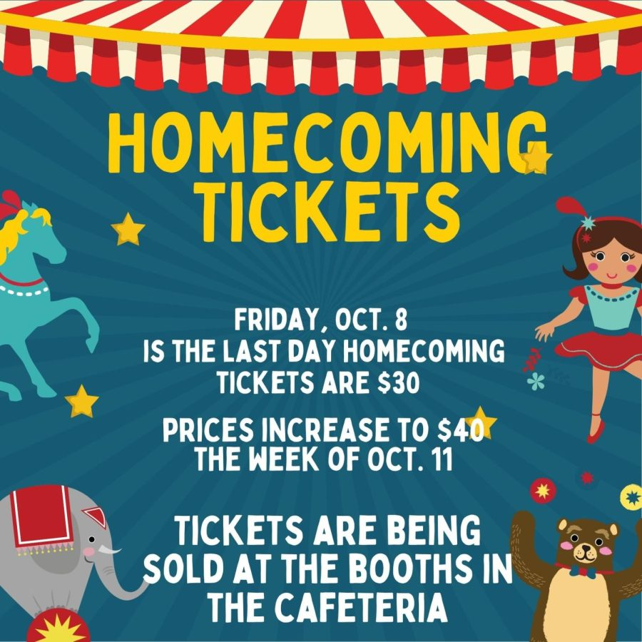 THE BEST SHOW ON TURF. Homecoming tickets are $30 until Oct. 8. Tickets will be $40 next week.