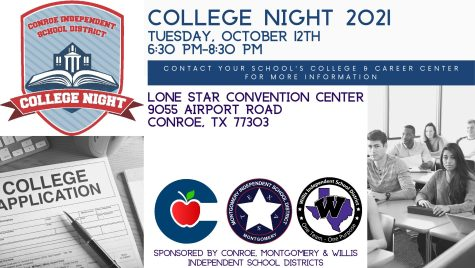 COLLEGE NIGHT. Lone Star College hosts College Night on Oct. 12 for juniors and seniors. This event will prepare students for filling out college applications and FAFSA.