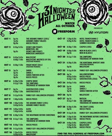 SPOOKY SEASON. Festive Halloween traditions are beginning with Freeforms 31 Nights of Halloween.