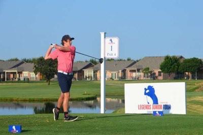 FOLLOW THROUGH. Senior Jack Wiebe participates in the Legend Junior Tour Tournament.