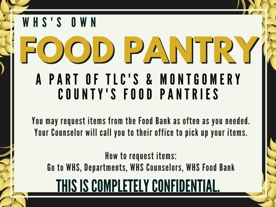 HELP IS HERE. The school has a food pantry available to help students. Filling out a quick Google form is the first step to getting assistance.