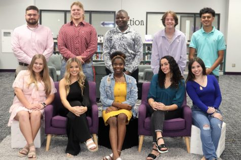 THE COURT. The king and queen candidates are seniors who were nominated by their senior peers. Queen candidates are seniors Rachel Smith, Mady Feist, Fantasia Lawrence, Lindsey Pipes and Melody Medina. King nominees are seniors Marshal Niederhofer, Zach Rogers, Karl Azangue, Colton Land and Ernesto Telles.